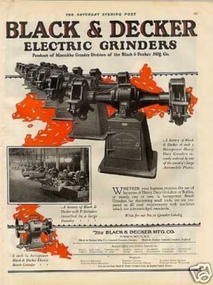 Black & Decker Electric Grinders Color (1926)