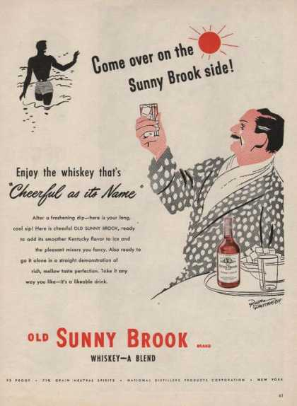 Cheerful As Its Name Sunny Brook Whiskey A (1946)
