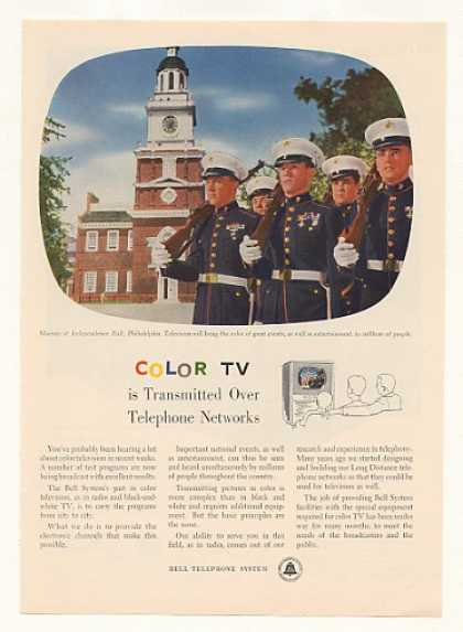 Marines Bell Telephone Color TV Broadcast (1954)