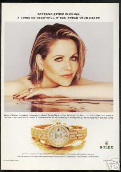 Renee Fleming Photo Rolex Datejust Watch (2002)