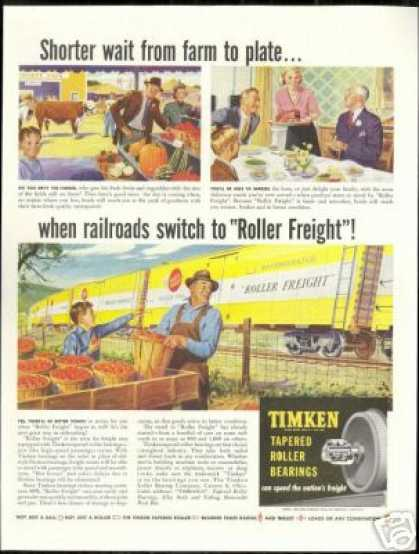County Fair Train Roller Freight Timken (1949)