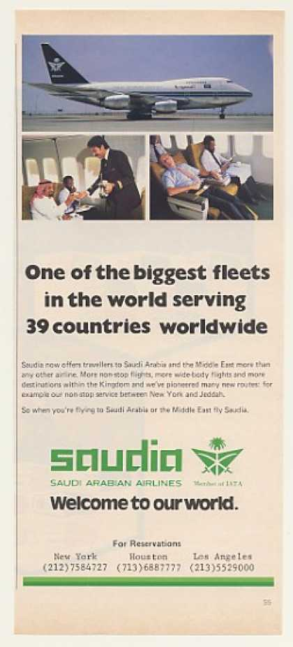 Saudia Saudi Arabian Airlines Jet Photo (1982)