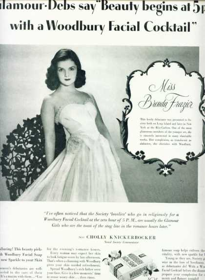 Woodbury Facial Soap Miss Brenda Frazier (1939)