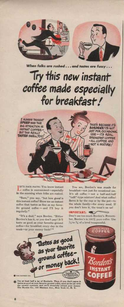 New Instant Coffee Bordens (1946)