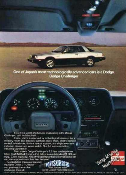 Dodge Challenger By Mitsubishi Photos (1980)