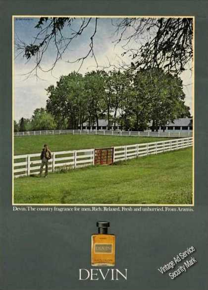 Devin Mens Cologne By Aramis Country Scene (1980)