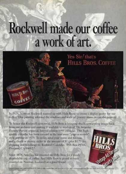 Norman Rockwell Made Our Coffee a Work of Art (1994)