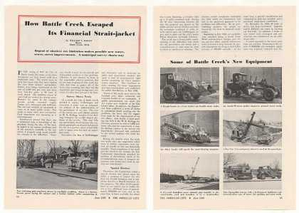 Battle Creek MI City New Equipment Photo Article (1950)