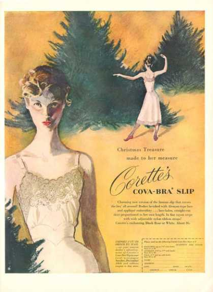 Corette's Cova Bra Slip Fashion Art (1950)