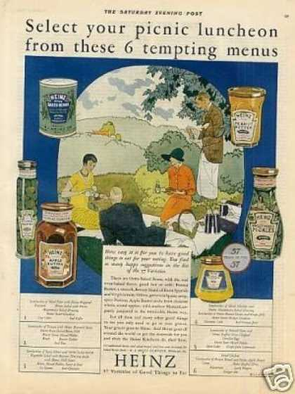 "Heinz Foods Color Ad ""Select Your Picnic... (1926)"