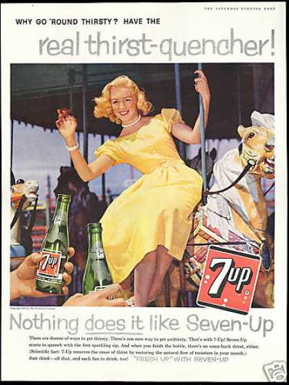 Carousel Horse Pretty Woman 7up Seven 7-up (1959)
