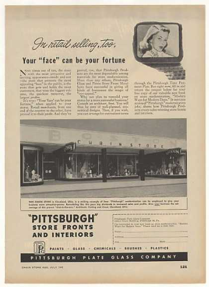 Boston Chain Store Cleveland OH PPG Store Front (1948)