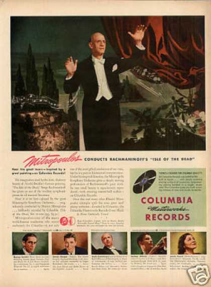 Columbia Records Ad Mitropoulos (1946)