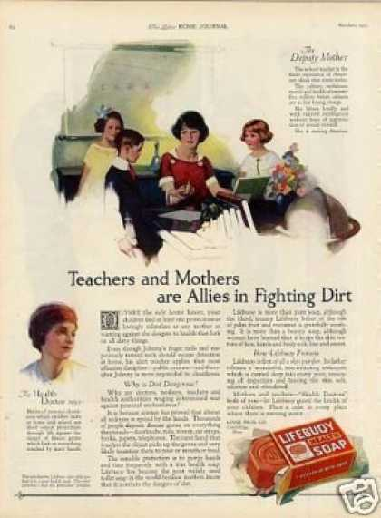 "Lifebuoy Soap Ad ""Teachers and Mothers... (1923)"