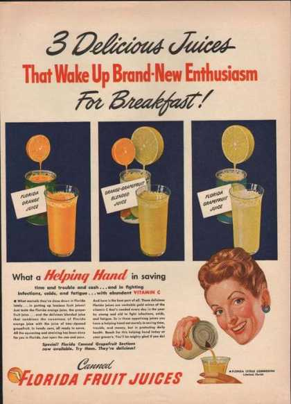 Canned Florida Fruit Juices (1946)