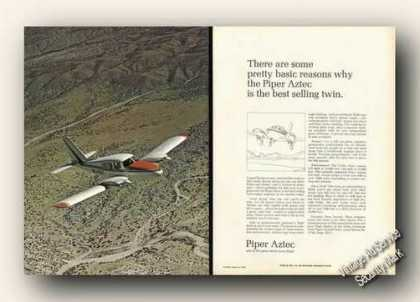 Piper Aztec Color Photo 2 Page Plane (1970)