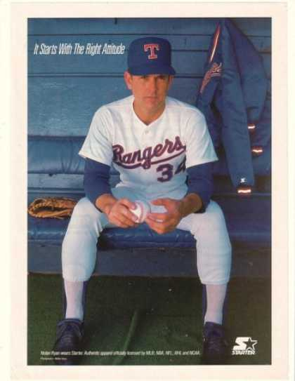 Nolan Ryan Photo Texas Rangers Starter Apparel (1990)