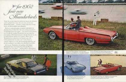 "Ford ""Four New Thunderbirds"" Nice Photos Car (1962)"
