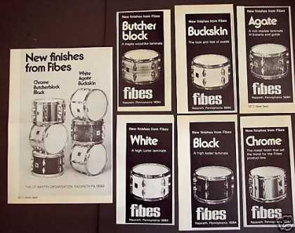 Fibes New Finish Drums Advertisement 7 Ads (1976)