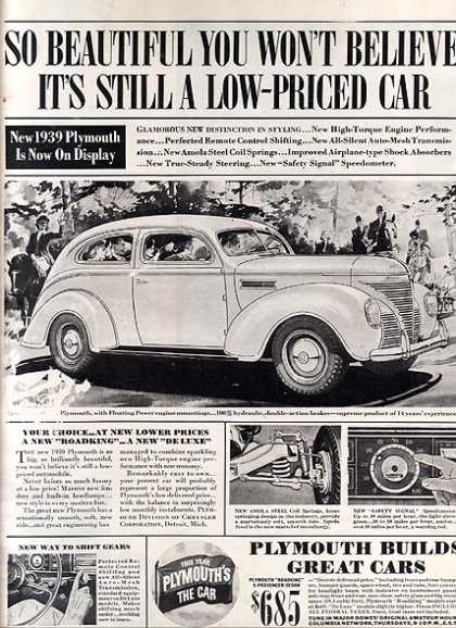 Chrysler&#8217;s Plymouth (1938)