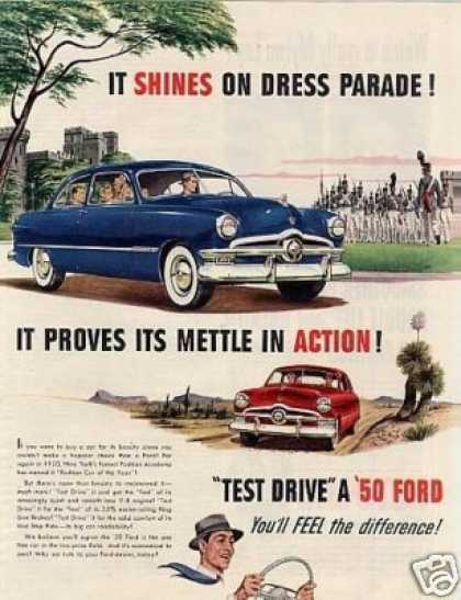 "Ford Car Ad ""It Shines On Dress Parade... (1950)"