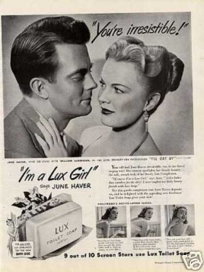 Lux Soap Ad June Haver (1950)