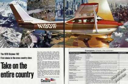1970 Cessna Skylane 182 http://www.vintageadbrowser.com/airlines-and-aircraft-ads-1970s/12