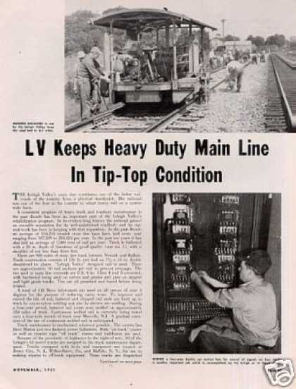 """Lv Keeps Main Line In Tip-top Condition"" Article (1951)"