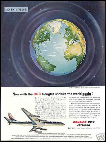 Douglas DC-8 DC8 Airplane Jetliner Plane Earth (1958)