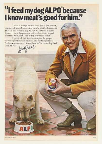 '75 Lorne Greene White German Shepherd Alpo Dog Food (1975)