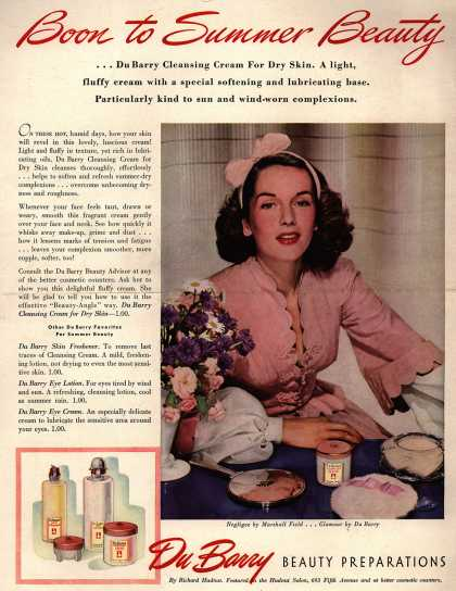 Richard Hudnut's DuBarry Cleansing Cream – Boon to Summer Beauty (1940)