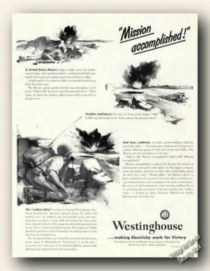 Wwii Westinghouse Walkie-talkie Antique (1943)