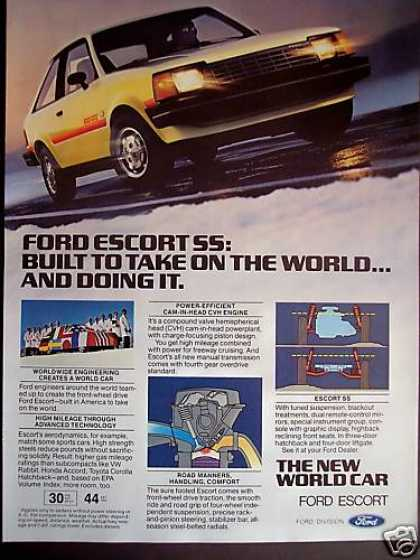 Ford Escort Ss Yellow Car Photo (1981)