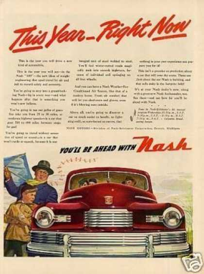 "Nash Car Ad ""This Year... (1946)"