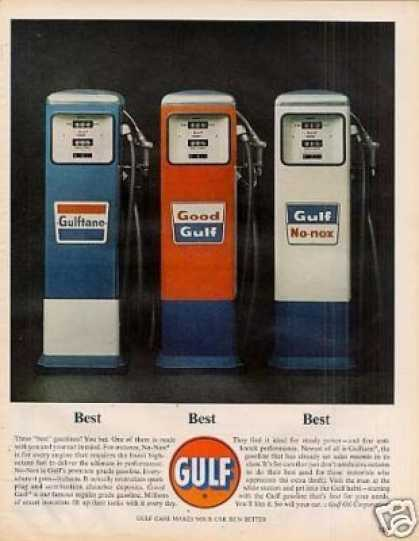 Gulf Ad Gasoline Pumps (1963)