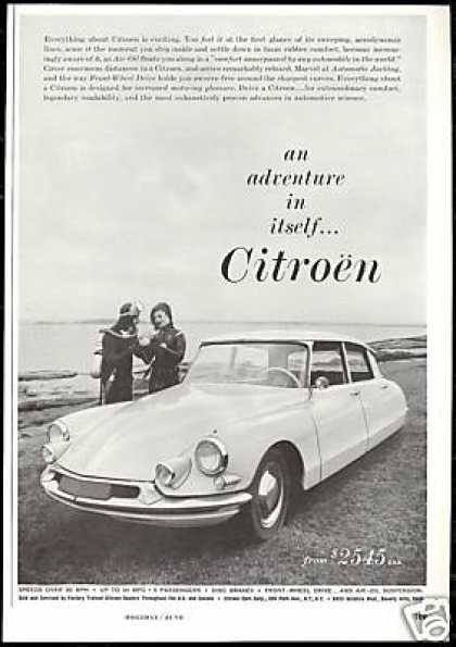 Citroen Car Photo Scuba Divers Vintage (1960)