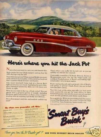 "Buick Car Ad ""Here's Where You Hit... (1951)"