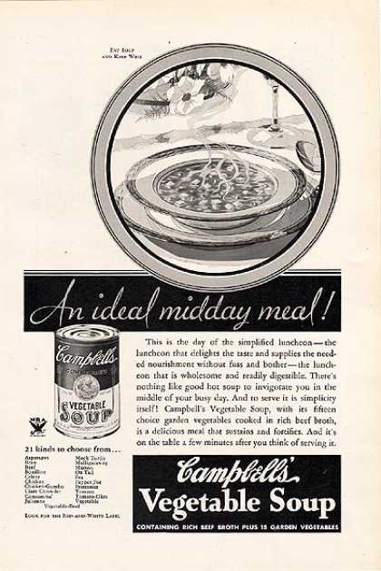 Campbell's Vegetable Soup (1934)