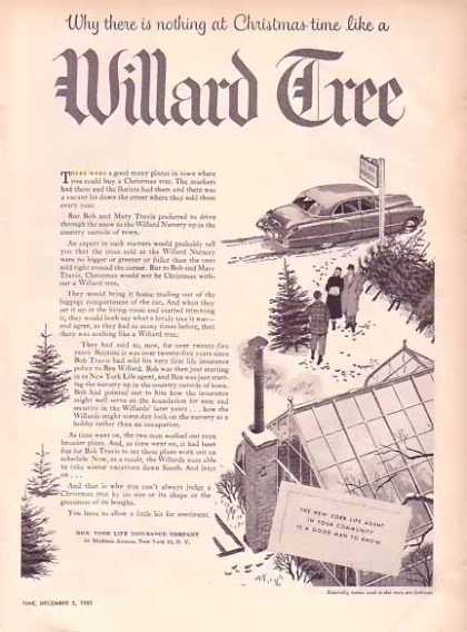 New York Life Insurance Christmas – Willard Tree (1951)