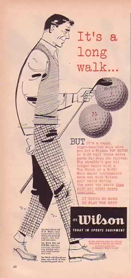 Wilson Golf Balls – It's a long walk… (1951)
