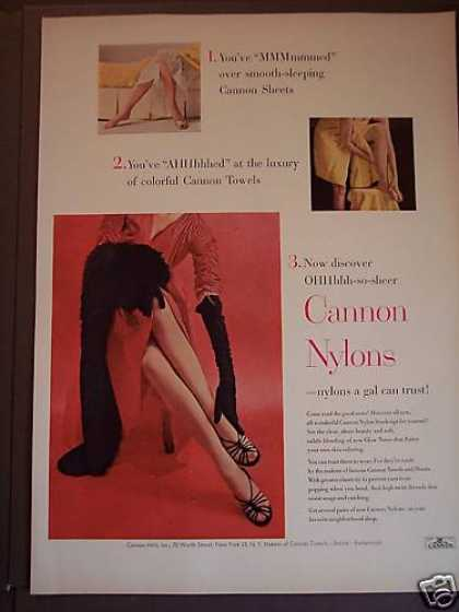 Cannon Nylon Stockings Nylons a Girl Can Trust (1953)