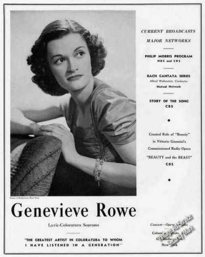 Genevieve Rowe Photo Concert/opera/r (1939)