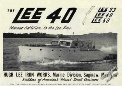 Lee 40 Photo Hugh Lee Iron Works Saginaw Mi (1948)