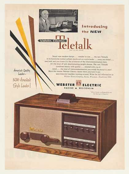 Webster Electric Teletalk Intercom System (1951)