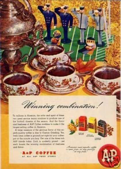 "A&p Coffee Ad ""Winning Combination... (1946)"