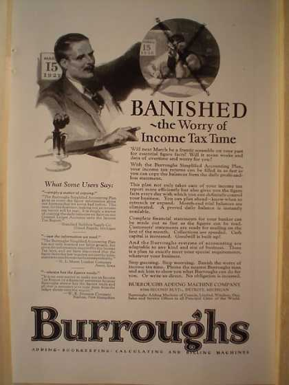 Burroughs Corporation Adding Bookkeeping Machines (1926)