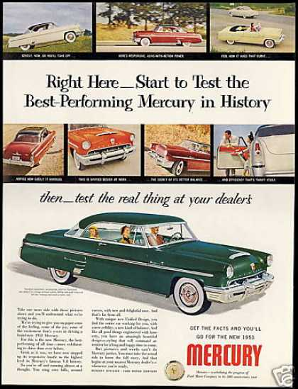 Mercury Car Vintage Photo (1953)