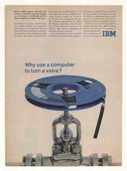 IBM Computer Tape Turn Valve Oil Refinery (1961)