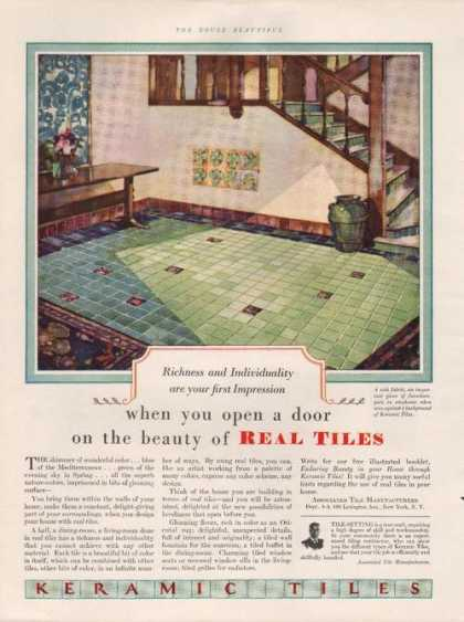 Keramic Floor Real Tiles (1929)