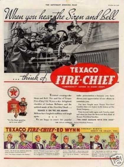 "Texaco Fire-chief Gasoline Ad ""When You Hear... (1934)"
